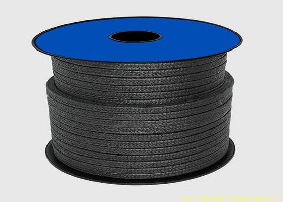 Chiny Black Teflon PTFE Pakowanie do materiałów uszczelniających / liny opakowaniowej z grafitem dystrybutor